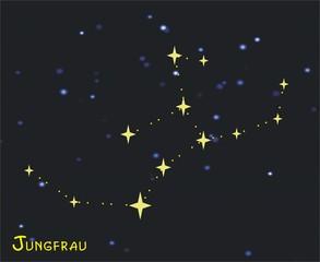 Sternbild Jungfrau (Virgo) – Tierkreiszeichen Jungfrau - Astronomie, Astrologie, Himmel, Sterne, Sternzeichen, Tierkreiszeichen, Nacht, Sternbilder.