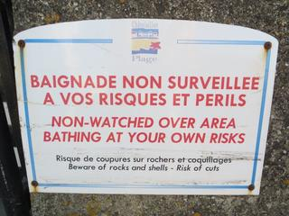Baignade interdite - Frankreich, Schild, panneau, baignade, interdiction, Badeverbot, risques, périls