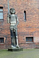 Der Roland von Brandenburg - Rolandfigur, Roland, Standbild, Mittelalter, Stadtrecht, Ritter, Schwert, Schutz, Rolandslied