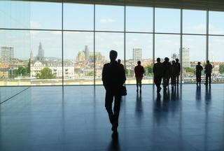 Centre Pompidou Metz  - Museum, Architektur, Gegenlicht, Umriss, Schatten