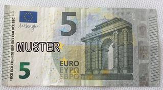 5 Euroschein - Geld, Münzen, Münze, Scheine, Schein, Geldschein, Zahlen, bezahlen, Euro, Summe, Wechselgeld, wechseln, Währung, Daf