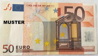 50 Euroschein - Geld, Münzen, Münze, Scheine, Schein, Geldschein, Zahlen, bezahlen, Euro, Summe, Wechselgeld, wechseln, Währung, Daf