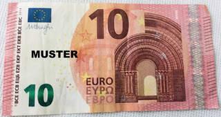 10 Euroschein - Geld, Münzen, Münze, Scheine, Schein, Geldschein, Zahlen, bezahlen, Euro, Summe, Wechselgeld, wechseln, Währung, Daf