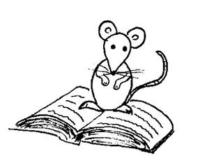 Leseratte - Buch, Bücher, Maus, Ratte, Illustration, Leseratte, lesen, Leseförderung, Lesepass