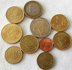 Euro 4,51 - Geld, Münzen, Münze, Scheine, Schein, Geldschein, Zahlen, bezahlen, Euro, Summe, Wechselgeld, wechseln, Währung, Daf