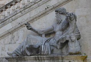 Selfie #2 - selfie, Rom, Statue, Selbstporträt