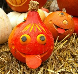 Kürbisgesichter - Kürbis, Fratze, Gesicht, Herbst, Jahreszeit, Dekoration, Herbstdekoration