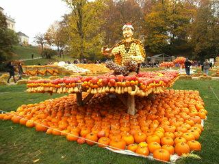 Kürbisdekoration #4 - Kürbis, Kürbisdekoration, Herbst, der fleigende Teppich, Märchen