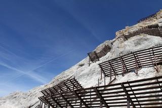 Lawinenschutz - Lawine, Schutz, Lawinenschutz, Berg, Zugspitze, Gebirge, Baukonstruktion, Katastrophenschutz, Lawinenverbauung, Bauwerk, Schutzbau, künstlich