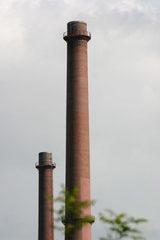 Industrieschornsteine - Industrie, Schornstein, Indistrieschornstein, Abgas, Emission, Umweltverschmutzung, Schlot, Schacht, Rauchfang, Kamin