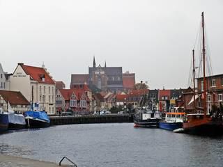 Hansestadt Wismar - Wismar, Hafen, alt, maritim, Hanse, Hansestadt, Deutschland, Geschichte, Ostsee, Geografie, Schifffahrt, Schiff, Schiffe, Anleger, Boot, historisch