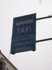 finnisches Verkehrsschild  - Verkehr, Verkehrsschild, Sprachen, Finnisch, blau