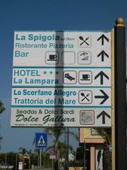Hinweisschild Restaurant Hotel - Hinweisschild, Italien, ristorante, Restaurant, trattoria, pizzeria, Hotel