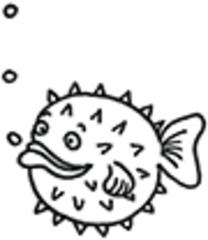 Kugelfisch - Kugelfisch, Fisch, giftig, Gift, Aquarium, Anlaut K, Wörter mit sch