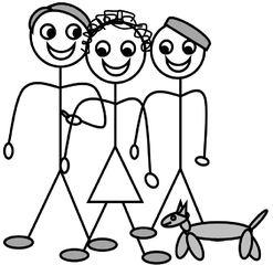 Personalpronomen #6 : wir - Personalpronomen, wir, Plural, Zeichnung, Clipart, DaF, Übung