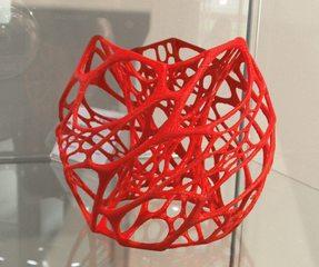Druckerzeugnis aus einem 3D Drucker#1  - 3D Drucker, Druckerzeugnis, Skulptur, Kunstoff
