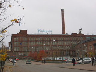 Fabrik - Sprachen, Finnland, Fabrik, Gebäude, Architektur, Tampere, Schlot, Ziegelbau