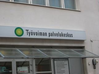 Was ist das... - Sprachen, Finnland, Finnisch, Arbeitsamt, Schild
