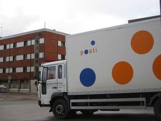 Postauto - Verkehr, Auto, Lastkraftwagen, Lkw, Sprachen, Finnisch, Post