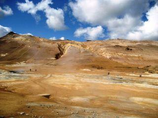 Island - Land zwischen Feuer und Eis - Schwefelfeld, Fumarolen, Schwefeldämpfe