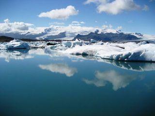 Gletscherlagune auf Island - Island, Eisberg, Eisberge, Gletscher, Gletscherlagune, exogene Kräfte, Wasser, Vulkan, Schnee, Island, Kälte