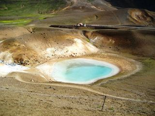 Kratersee - Vulkan, Krater, Kratersee, Island