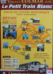 Petit Train Colmar - Elsass, Alsace, Colmar, Petit train, Stadtplan, plan, Stadtrundfahrt, visite guidée, Sehenswürdigkeit