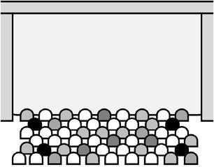 Einfache Zeichnung eines Kinos - Kino, Theater, Lichtspieltheater, Cinema, Cinéma, Film, Zuschauer, Saal, Freizeit, Anlaut K, Zeichnung, Besucher, Leinwand