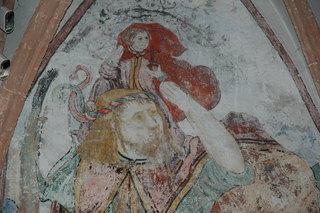 Hl. Christophorus - Gotik, Wandmalerei, Fresko, 14 Nothelfer, Kirche, Heiliger, Wandbild, Malerei, Kunst