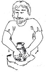 Jungsteinzeit: Töpferhandwerker - Steinzeit, Jungsteinzeit, Töpferer, töpfern, Töpferhandwerker, Ton, Arbeitsteilung