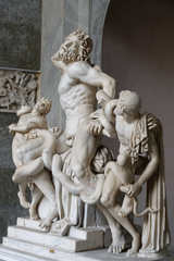Laokoongruppe - Skulptur, Bildhauer, Hagesandros, Polydoros, Athanadoros, Rhodos, Marmorkopie