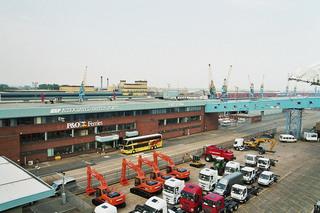 Port of Hull - Port of Hull, Hafen, Fährhafen, Fähre, P&O Ferries, Wasser, England, Großbritanien, Schiff, Verladung