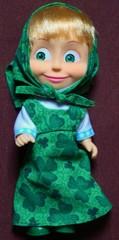 Mascha im grünen Kleid_frontal - Mascha, russisch, Russland, Puppe, Souvenir