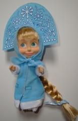 Mascha-Snegurtotschka_weißer Hintergrund - Mascha, Snegurotschka, Puppe, Russland, russisch, Souvenir, Trickfilm