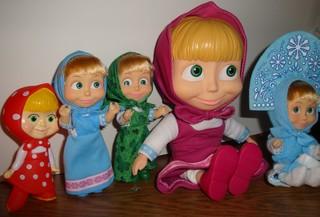 fünf Maschas - Mascha, russisch, Puppe, Russland, Souvenir