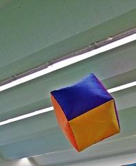 Würfel - Sportgerät, Würfel, Aircube, Kanten, Ecken, Mathematik, Gerät, luftgefüllt