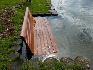 Hochwasser am Bodensee - Hochwasser, Überflutung, Überschwemmung, See, Bodensee, Bank