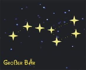 Sternbild Großer Bär/ Großer Wagen - Astronomie, Astrologie, Himmel, Sterne, Sternzeichen, Nacht, Sternbilder, großer Bär, großer Wagen.