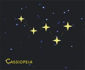 Das Sternbild Cassiopeia - Astronomie, Astrologie, Himmel, Sterne, Sternzeichen, Nacht, Sternbilder, Cassiopeia.