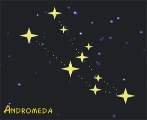 Das Sternbild Andromeda - Astronomie, Astrologie, Himmel, Sterne, Sternzeichen, Nacht, Sternbilder, Andromeda
