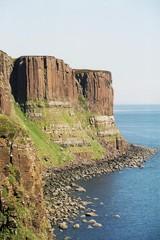 Kilt rock - Kilt Rock, Skye, Hebriden, Schottland, Felswand, Basalt, Meer, Küste, Steilwand, Natur, Aussicht, Felsen