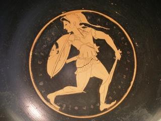 Fliehende AMAZONEN Kriegerin - Amazone, Amazonen, Antike, Griechenland, Griechen, Mythologie, Kunst, Schale, Kunsthandwerk
