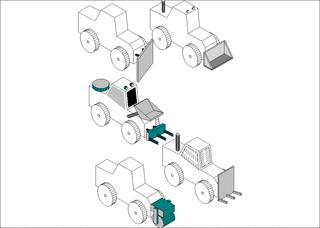 Bagger-Entwurf - Werken, Technik, Fahrzeug, Bagger, Holzarbeit, Konstruktion, Baumaschine, Schaufel