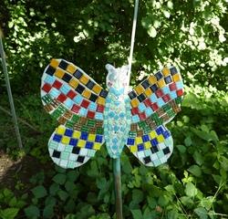Schmetterlinge#2 - Schmetterlinge, Holz, sägen, schleifen, schmirgeln, bemalen, bekleben