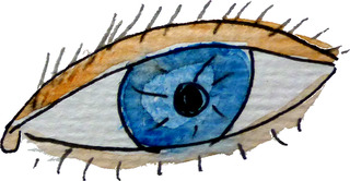 videre - sehen, Auge, Wimper, Pupille, Iris, Lid, Oculus, Sinnesorgan, sehen, eye, see, look, Anlaut Au