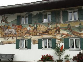 Wandmalerei - Wandmalerei, Fassadenmalerei, Kunst, Maltechnik, Haus, Schreinerei