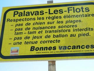 Règles plage - Frankreich, civilisation, panneau, Schild, plage, règles, musique, vacances