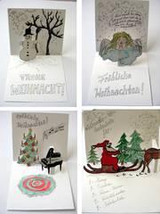 Weihnachts-Pop-up-Karten - Weihnachten, Karten, Pop-up, Kunstunterricht
