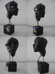 Cyborg - Modellieren, Plastizieren, Modellierwachs, Kunstunterricht, Oberstufe