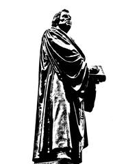 Martin Luther - Martin Luther, Reformator, Reformation, Kirche, Religion, Kunst, Bibelübersetzung, Protestant, evangelische Kirche, Augustiner, Mönch, Theologieprofessor, lutherisch, evangelisch, katholisch, Ablass, 95 Thesen, Reichstag, Kirchenmusik, Freiheit, Denkmal